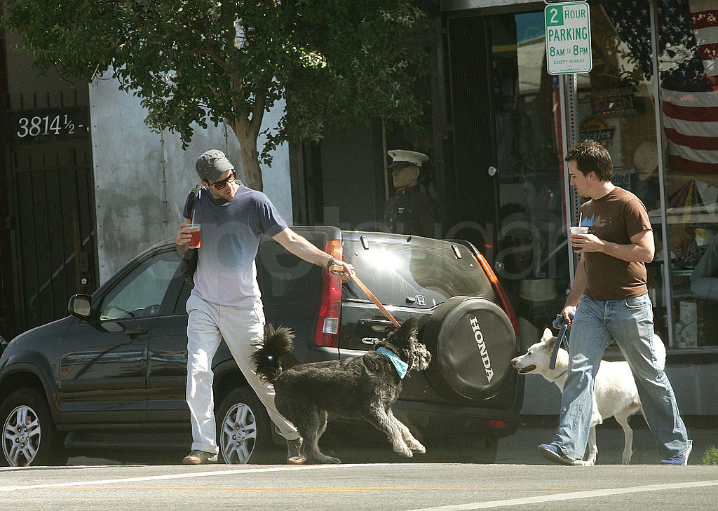 Zachary Quinto Out With His Dog