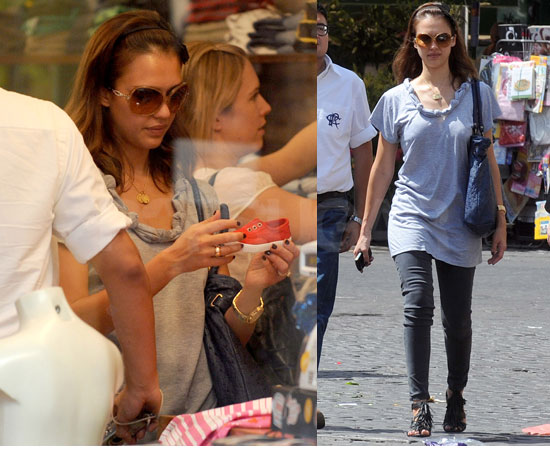 Jessica Alba Shopping in Rome