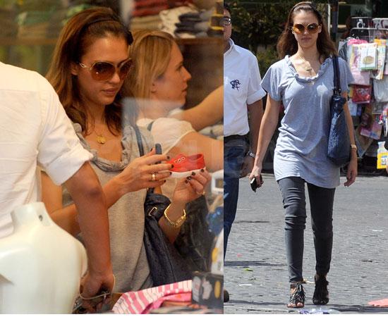 Jessica Alba Shopping in Rome