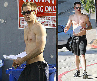 Photos of Chris Pine Jogging Shirtless in LA