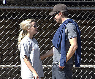 Photo Slide of Reese Witherspoon and Jake Gyllenhaal Playing Baseball