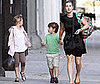 Photo Slide of Kate Winslet Bringing Kids Mia Threapleton and Joe Mendes to School in NYC