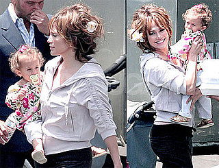 Photos of Jennifer Lopez With Daughter Emme Anthony on Set of The Back-Up Plan in LA