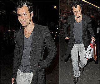 Photos of Jude Law Leaving a London Theater After Performing in Hamlet