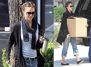 Photos of Jessica Alba Helping Friends with Errands