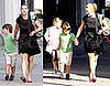 Photos of Kate Winslet Taking Joe and Mia to School