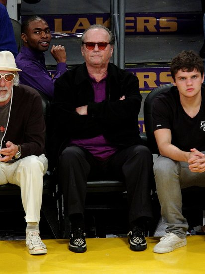 Celebs Attend the Lakers Game