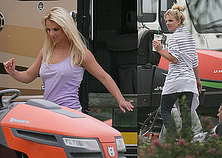 "Photos of Britney Spears Behind the Scenes of the ""Radar"" Video Shoot"