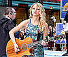 Photo Slide of Taylor Swift Performing on The Today Show