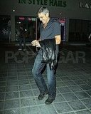 George Clooney Leaving Sushi Dinner