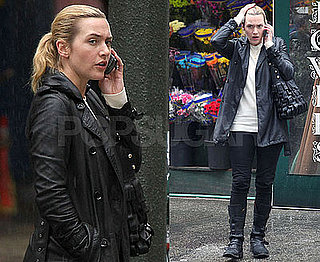 Photos of Kate Winslet Talking on Her Cell Phone in NYC