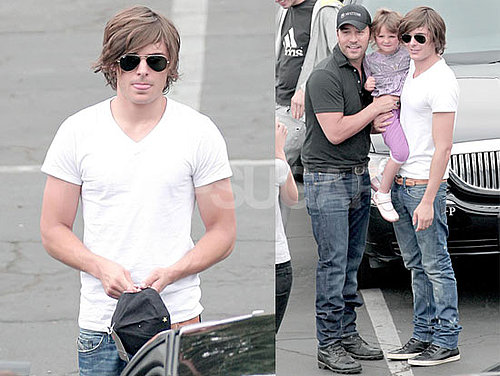 Photos of Zac Efron Filming Guest Starring Role on Entourage in LA