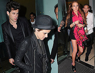 Photos of Lindsay Lohan and Samantha Ronson Leaving Bungalow 8 in London