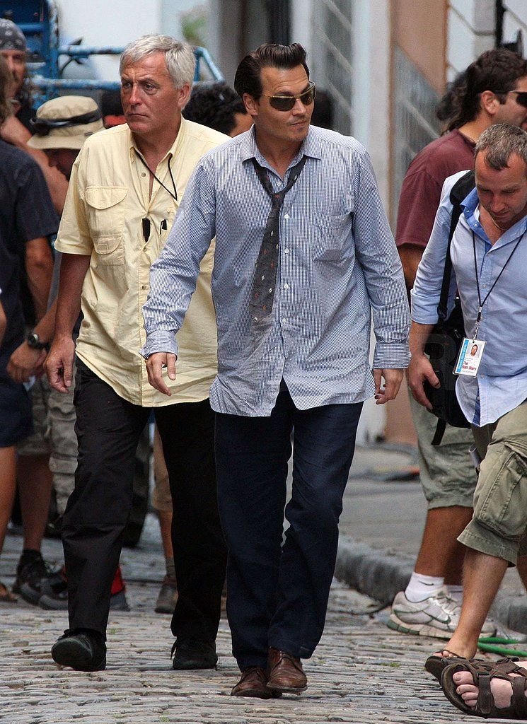 Johnny Depp on Set