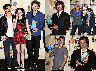 Photos of Robert Pattinson, Kristen Stewart, Taylor Lautner, Cameron Diaz, Ben Stiller, Zac Efron at 2009 MTV Movie Awards