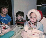 Angelina Jolie and her brother, James Haven, celebrated Christmas in LA in 1980.