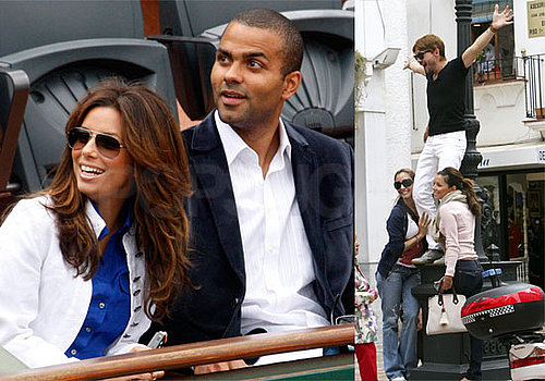 Photos of Eva Longoria, Tony Parker at French Open, Shopping with Ken Paves in Mallorca, Spain