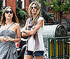 Slide Photo of Gisele Bundchen in Short Shorts Walking Around The West Village