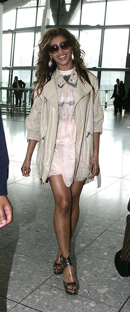 Beyonce at Heathrow