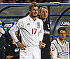 Photo Slide of David Beckham Playing with the English Team in Kazakhstan