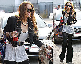 Photos of Lindsay Lohan Leaving a Studio in LA