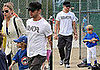 Photos of Ryan Phillippe, Abbie Cornish, Deacon and Ava Phillippe at Little League Baseball Game in LA