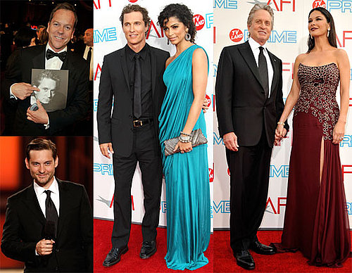 Photos of Matthew McConaughey, Camila Alves, Tobey Maguire, Keifer Sutherland, Catherine Zeta-Jones at  AFI Lifetime Achievement