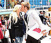 Slide Photo of Heidi Montag and Spencer Pratt Kissing in NYC With Pizza