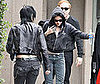 Photo Slide of Kristen Stewart and Joan Jett on the LA Set of The Runaways