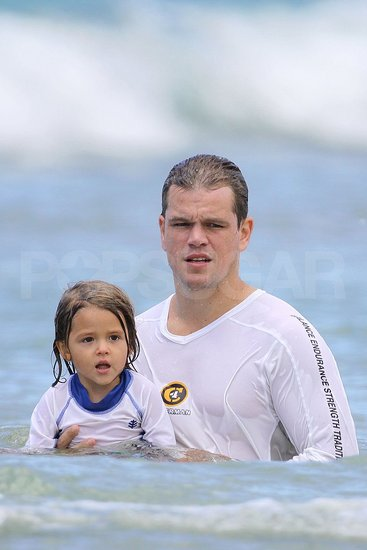 Matt Damon and Family in Hawaii