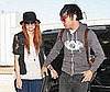 Photo Slide of Ashlee Simpson and Pete Wentz at LAX
