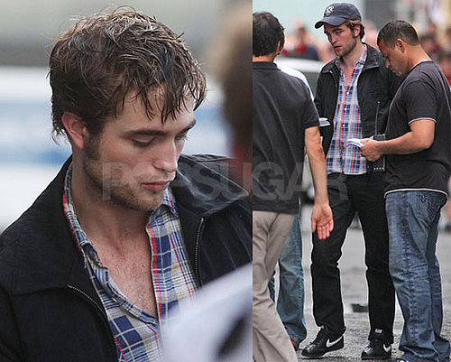 Photos of A Sweaty Robert Pattinson On Set of Remember Me In NYC