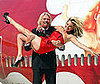 Photo Slide of Richard Branson and Kate Moss Celebrating Virgin Atlantic&#039;s 25th anniversary at Heathrow