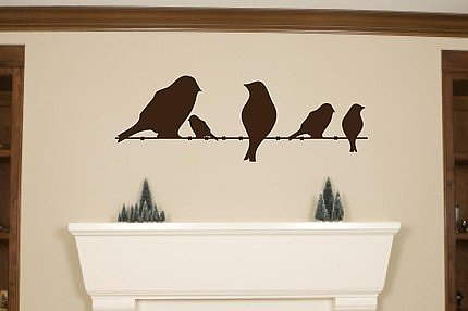 Birds on a Wire Vinyl Wall Decal ($24) 
