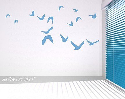 Flying Birds Vinyl Wall Sticker ($24) 