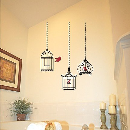 Birdcage Vinyl Wall Decal ($43) 