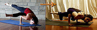 Yoga Video of Scissor Legs Side Crow to One-Legged Arm Balance