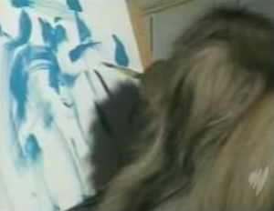 Ziggy the Painting Dog