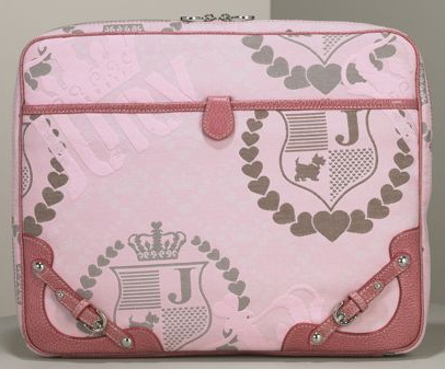 Crystal Pink Jacquard Laptop Sleeve