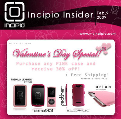 Get 30 Percent Off Discount for Valentine's Day on Pink iPhone and BlackBerry Cases From Incipio