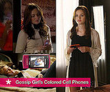 Brightly Colored LG and Samsung Cell Phones on The TV Show Gossip Girl