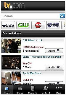 Use the TV.com iPhone App to Watch all of Your Favorite CBS Shows
