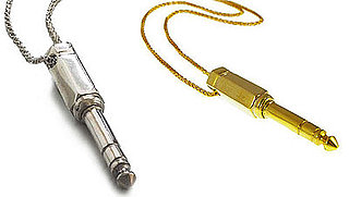 Sterling Silver or Gold Necklace Looks Like Headphone Jack