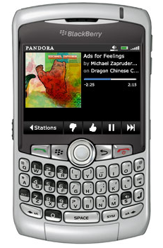 Pandora Is Now Available For the BlackBerry