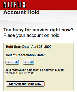Use Netflix Account Holds to Save Money