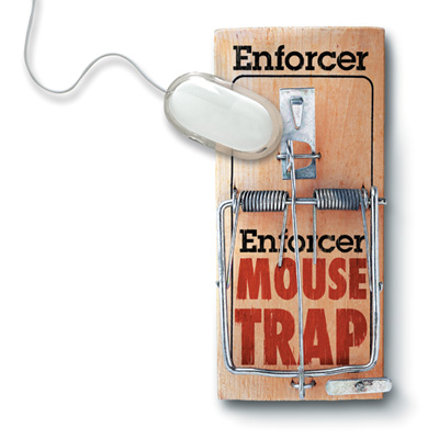 Mouse Trap Mouse Pad by Molla Space