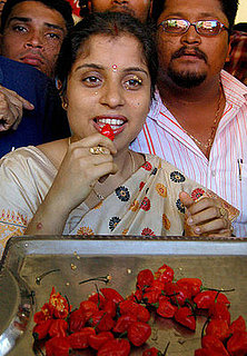 Woman Breaks World Record For Eating World's Hottest Chiles