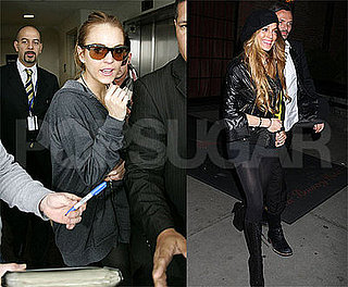 Photos of Lindsay Lohan, Who is Denying Weight Loss Rumors, Out in NYC with Matthew Williamson