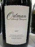 Ortman 2007 SLO Pinot Noir