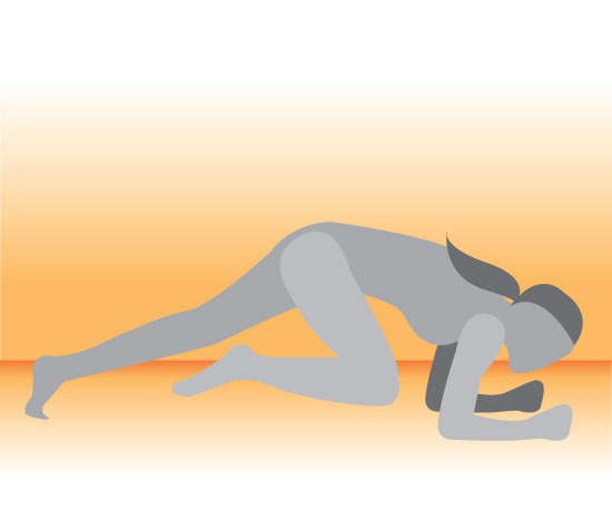 Elbow Plank With Rotated Knee